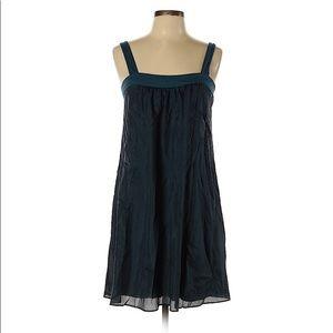 Velvet Mini Swing Dress NWT 100% Silk